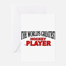 """The World's Greatest Hockey Player"" Greeting Card"