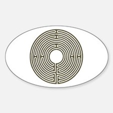 Labyrinth Oval Decal