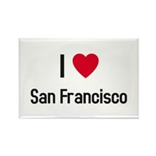 I love San Francisco Rectangle Magnet