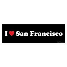 I love San Francisco Bumper Bumper Sticker