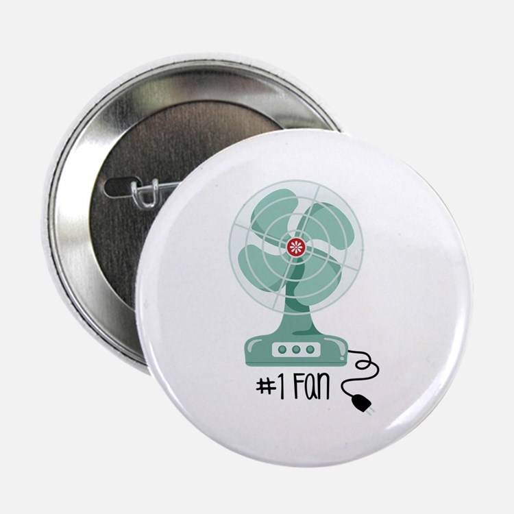 """Number One Fan 2.25"""" Button"""