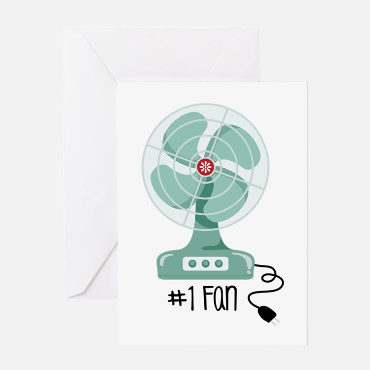 Number One Fan Greeting Cards