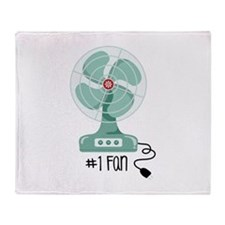 Number One Fan Throw Blanket