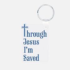 TJIS Through Jesus I'm Sav Keychains