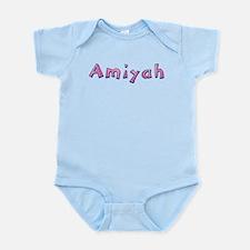 Amiyah Pink Giraffe Body Suit