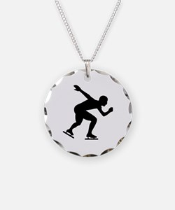 Speed skating skater Necklace