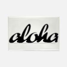 Surf Aloha - Rectangle Magnet