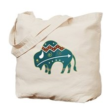 Native Buffalo Design Tote Bag