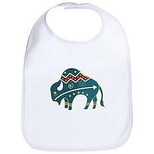 Native Buffalo Design Bib