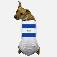 Flag of El Salvador Dog T-Shirt