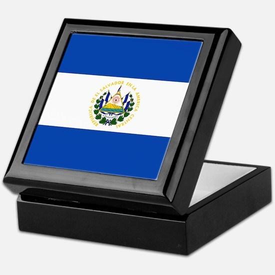 Flag of El Salvador Keepsake Box