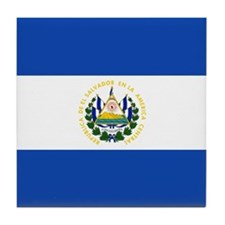 Flag of El Salvador Tile Coaster