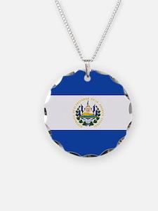 Flag of El Salvador Necklace