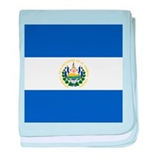 Flag of El Salvador baby blanket