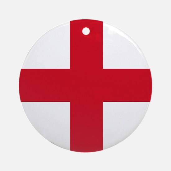 Flag of England - St George Ornament (Round)