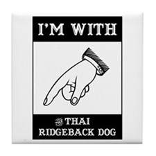 With the Ridgeback Tile Coaster