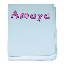 Amaya Pink Giraffe baby blanket
