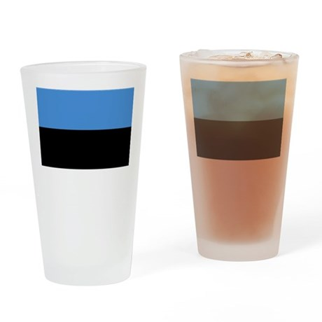 Flag of Estonia Drinking Glass