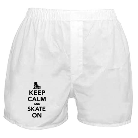 Keep calm and Skate on Boxer Shorts