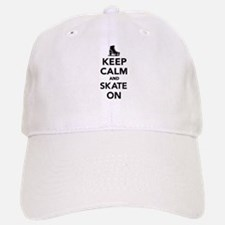 Keep calm and Skate on Baseball Baseball Cap