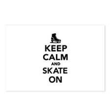 Keep calm and Skate on Postcards (Package of 8)