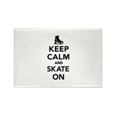 Keep calm and Skate on Rectangle Magnet