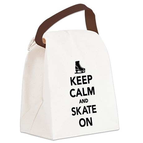 Keep calm and Skate on Canvas Lunch Bag
