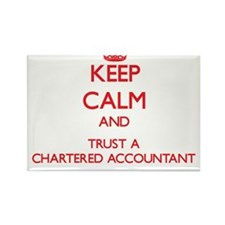 Keep Calm and Trust a Chartered Accountant Magnets