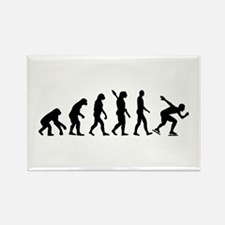 Evolution Speed skating Rectangle Magnet