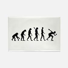 Evolution Speed skating Rectangle Magnet (10 pack)