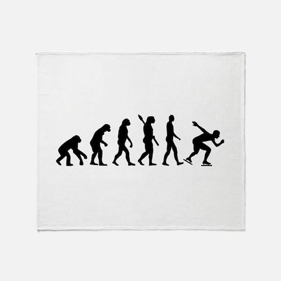 Evolution Speed skating Throw Blanket