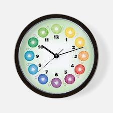 Rainbow Yarn Ball Wall Clock