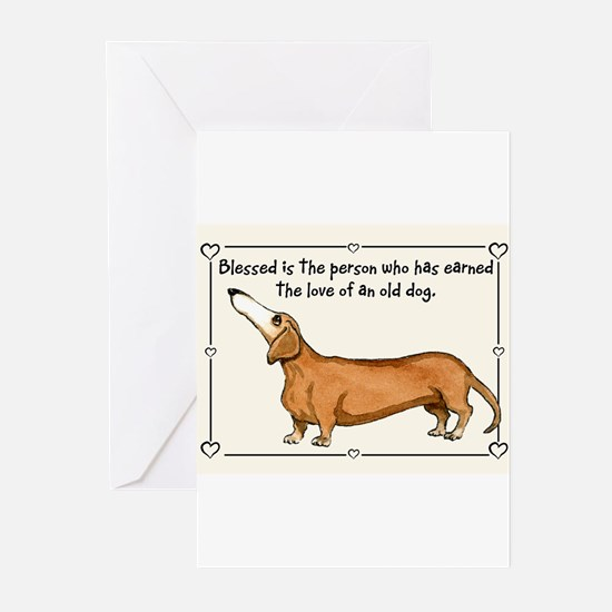 Old Dachshund Greeting Cards