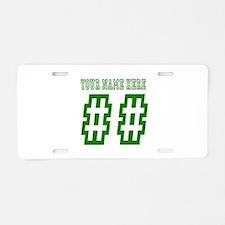 Custom Game Day Aluminum License Plate