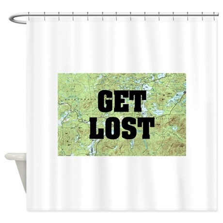 Awesome Get Lost Shower Curtain