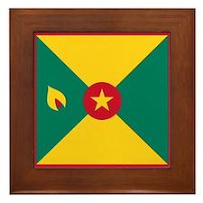 Flag of Grenada Framed Tile