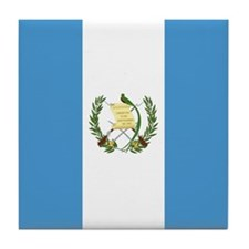 Flag of Guatemala Tile Coaster