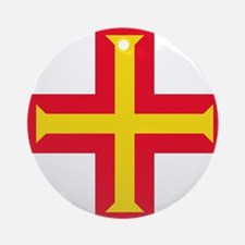 Flag of Guernsey Ornament (Round)