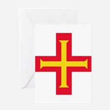 Flag of Guernsey Greeting Cards