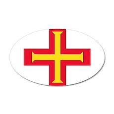 Flag of Guernsey Wall Sticker