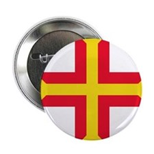 "Flag of Guernsey 2.25"" Button"