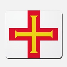 Flag of Guernsey Mousepad