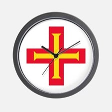 Flag of Guernsey Wall Clock