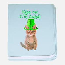Kiss Me I'm Irish baby blanket
