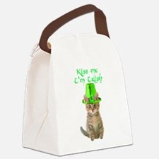Kiss Me I'm Irish Canvas Lunch Bag
