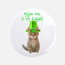 "Kiss Me I'm Irish 3.5"" Button"