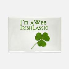 Wee Irish Lassie Rectangle Magnet