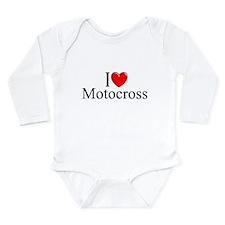 """""""I Love (Heart) Motocross"""" Body Suit"""