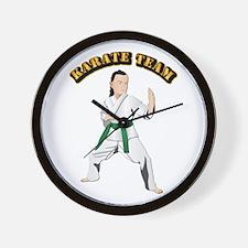 Karate Team Wall Clock