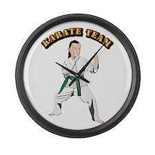 Karate Team Large Wall Clock